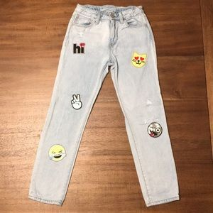 Gap 1969 Girls Jeans with Cute Sequin Patches